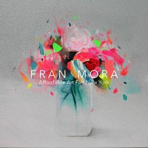El pintor expone algunas de sus obras en la Affordable Art Fair de Nueva York.