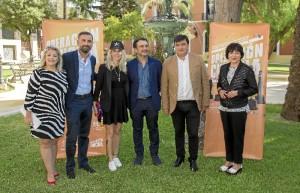 Foto de familia del acto de la Casa Colón de Huelva.