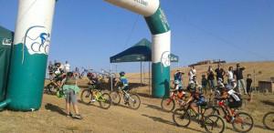 Un momento de la prueba de los más pequeños. / Foto: Federación Andaluza de Ciclismo.