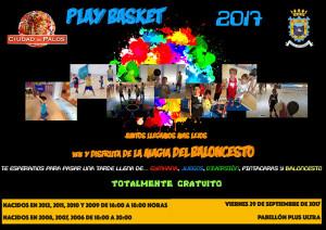 Cartel de la nueva edición del Play Basket 'Ciudad de Palos' de este próximo viernes.