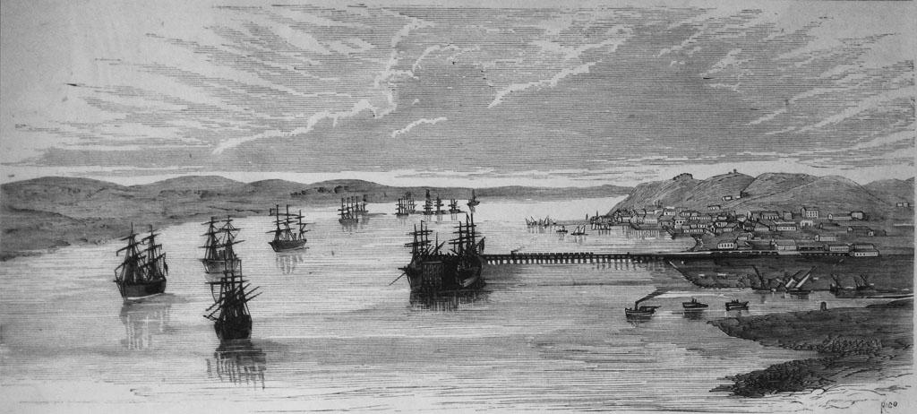 Imagen del Puerto de Huelva en el año 1876. / Foto: juntadeandalucia.es