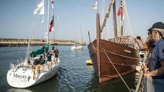 La Regata del 525 Aniversario Huelva-La Gomera ya surca el Océano Atlántico para revivir la gesta colombina