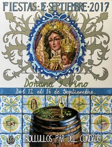 Cartel anunciador de las Fiestas de Bollullos, obra de Alejandro Mairena Morales. / Foto: Eliseo Márquez Pérez.