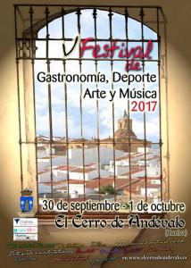 Cartel del Ffestival de Gastronomía, Deporte, Arte y Música de El Cerro.