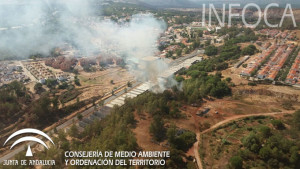 Incendio declarado en Minas de Riotinto.