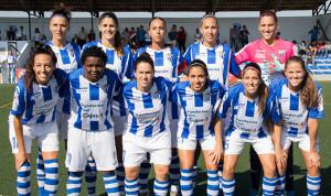 Formación inicial del equipo sportinguista ante el Espanyol.