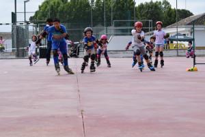 Los pequeños patinadores de Hinojos.
