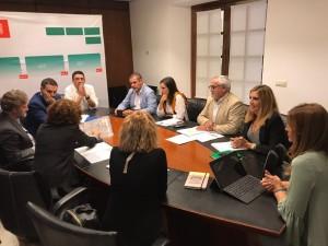 Reunión de presentación de la vía verde a las consejerías.