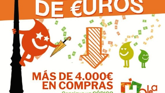 Holea reparte más de 4.000 euros en premios con su 'Lluvia de euros'