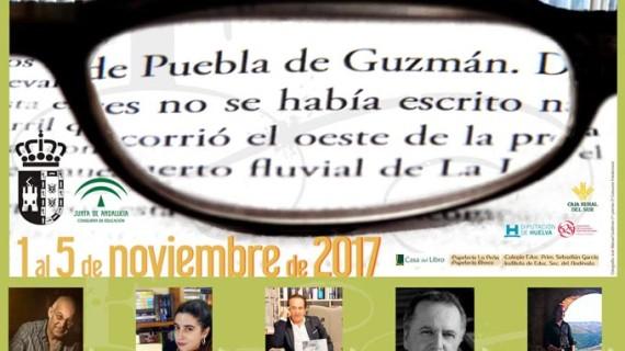 Puebla de Guzmán recibe durante su Feria del Libro a Juan Cobos Wilkins y May R. Ayamonte