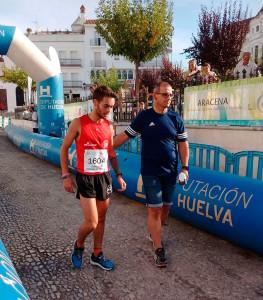 Moisés Antonete, ganador de la prueba, al término de la misma.