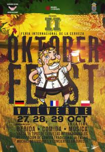 Cartel del Oktober Fest de Valverde 2017.