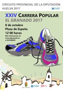 Cartel de la prueba atlética en El Granado de este próximo domingo.