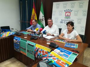 Un momento de la presentación de los tres eventos deportivos que se van a desarrollar en Cartaya este curso,