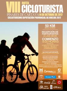 Cartel de la prueba lúdico-deportiva que tendrá lugar en los pinares de Cartaya.