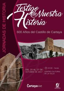 Cartel Jornadas Historia Testigo de Nuestra Historia