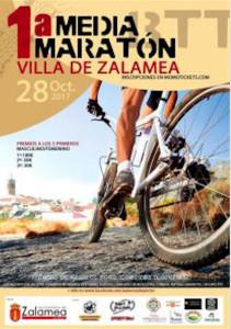 Cartel anunciador de la prueba ciclista que se celebrará en Zalamea la Real.