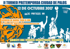 Cartel anunciador del II Torneo de Pretemporada del Ciudad de Palos.