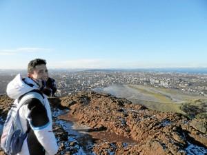 Su estancia en Edimburgo fue la que más le marcó a nivel personal. En fotografía, en la cima del Arthur's Seat, Edimburgo.