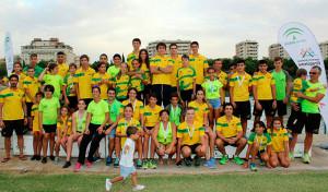 Representantes del Tartessos en el Campeonato de Andalucía de Invierno.