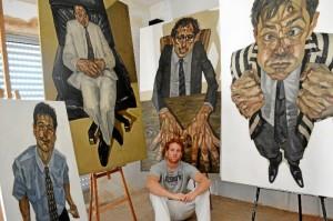 Diego Cerero en su estudio.