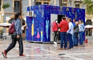 Los 'pop up stores' o tiendas efímeras permanecerán la Plaza de las Monjas hasta el sábado.