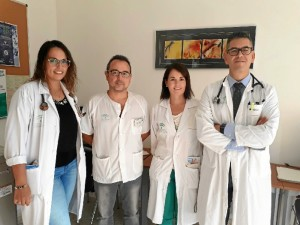 En la imagen, los especialistas en Medicina Interna que integran la Unidad.