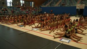Más de 500 gimnastas se dieron cita este sábado en el Palacio de Deportes de Huelva.