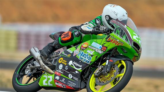 Brillante sexto puesto de Hugo Millán en la prueba en Albacete del Campeonato de España de Velocidad de Moto4