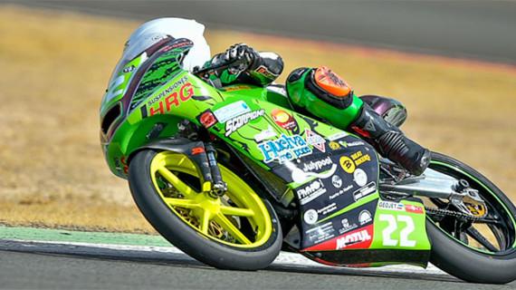 Hugo Millán se sobrepone a una caida para acabar quinto la última carrera de la temporada en el Campeonato de España de Velocidad