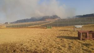 El fuego se ha registrado al sur de Nazaret.