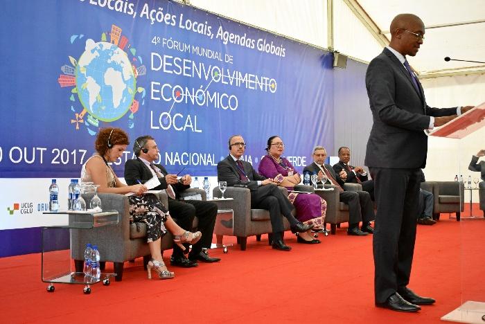 Un momento del IV Foro Mundial de Desarrollo Económico Local celebrado en Cabo Verde.