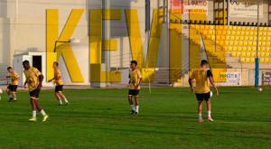 Kevin Bemanga estuvo en las pruebas de jugadores del San Roque este verano. / Foto: @SanRoqueLepe.