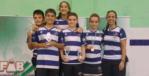 Representantes del Recre IES La Orden en el Master Nacional Ciudad de Huelva.