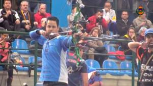 Miguel Ángel Medina, durante el Campeonato de España de sala.