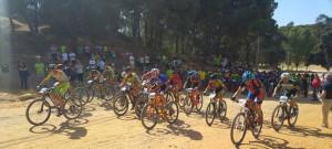 Las carreras de los menores fueron muy emocionantes. / Foto: Federación Andaluza de Ciclismo.