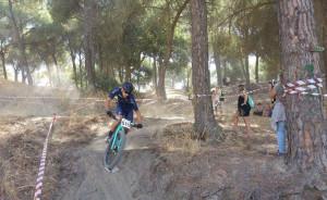 Antonio David Villegas, ganador en la categoría Élite en Moguer. / Foto: Federación Andaluza de Ciclismo.