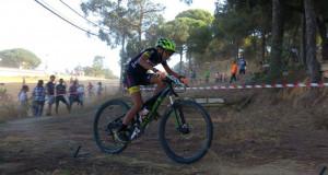 Buen nivel de participación en el V Rally BTT Coto de Montemayor. / Foto: Federación Andaluza de Ciclismo.