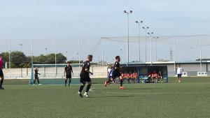 Triunfo trabajado del Atlético Onubense en la Ciudad Deportiva del Decano. / Foto: @atcosanluqueno.