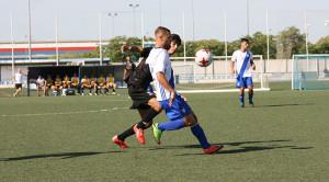 Primer punto que conquista a domicilio el Atlético Onubense. / Foto: J. Manzano / recrecantera.es.