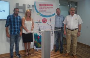 Un momento de la presentación en la Diputación Provincial de la prueba deportiva y solidaria que tendrá lugar entre San Juan del Puerto y la Punta del Sebo.