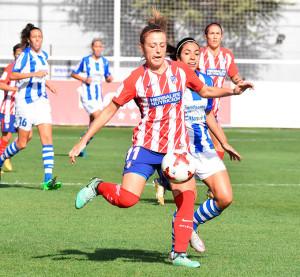 Sólo muy al final del partido pudo el cuadro colchonero doblegar al Sporting. / Foto: www.lfp.es.