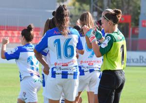 Pese a la derrota, nada que objetar al partido de las sportinguistas. / Foto: www.lfp.es.