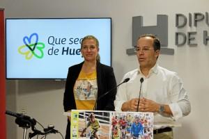 Miguel Ángel Curiel, alcalde de Hinojos durante su intervención.