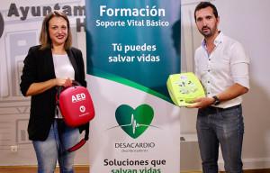 Un momento de la presentación de la XXXI Vuelta a Huelva, primera prueba 'cardioasegurada' de la provincia onubense.