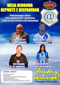 Cartel de la charla-coloquio que tiene lugar este lunes organizada por la Peña Internauta #Recre.