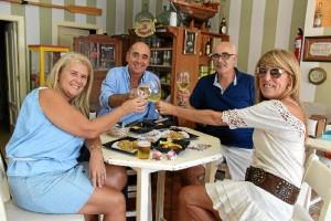 El vino también es protagonista en la actividad gastronómica.