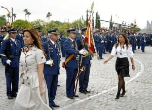 Todo preparado para la Jura de Bandera Civil en Palos. / Foto: Ejército del Aire.