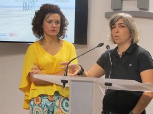 Limón y Fernández en rueda de prensa.
