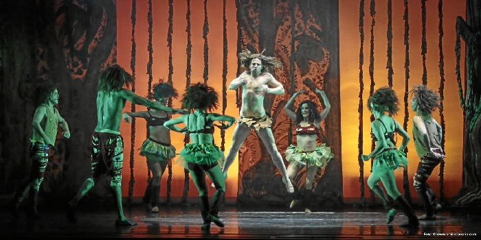 El espectáculo dará comienzo a las 19.00 horas. /Foto: tarzanmusical.com
